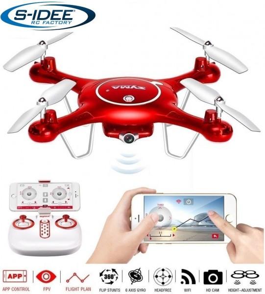 s-idee® 01652 X5UW Quadrocopter Syma Wifi HD Kamera FPV Höhenstabilisierung, Headless Mode VR möglic
